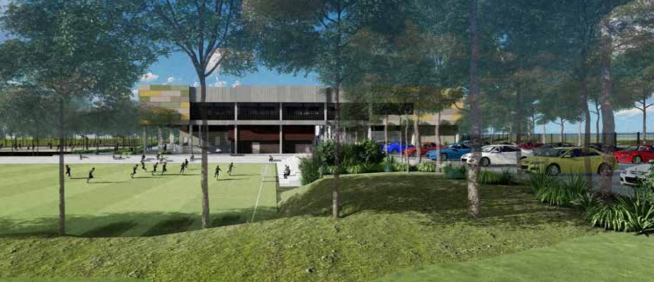 Artist impression of the new primary school in Marsden Park on Northbourne Drive